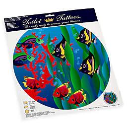 Toilet Tattoos® Under the Sea Round Decorative Applique