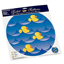 Toilet Tattoos® Rubber Ducky Blue Round Decorative Applique