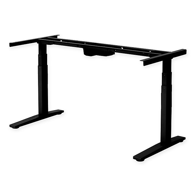 Alternate image 1 for Rise Up Electric Adjustable Height Standing Desk in Black