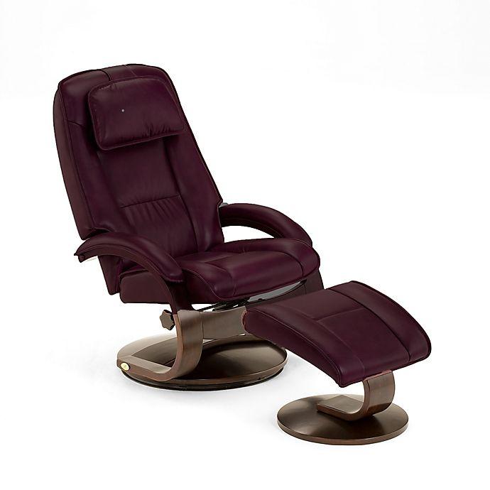 Amazing Oslo Leather Swivel Recliner And Ottoman Set In Burgundy Short Links Chair Design For Home Short Linksinfo