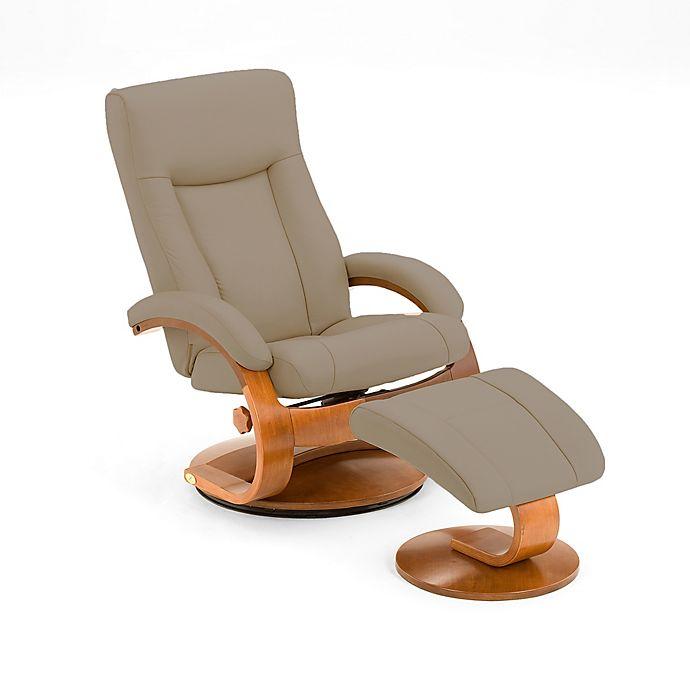 Groovy Oslo Leather Swivel Recliner And Ottoman Set In Cobblestone Uwap Interior Chair Design Uwaporg