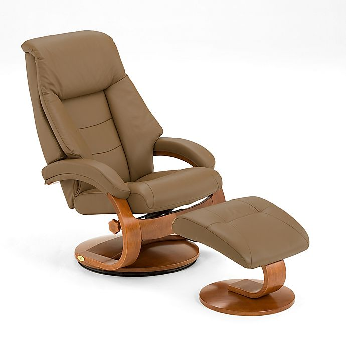 Pleasing Oslo Leather Swivel Recliner And Ottoman Set In Tan Bed Ibusinesslaw Wood Chair Design Ideas Ibusinesslaworg