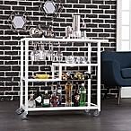 Southern Enterprises Holly & Martin Zephys Bar Cart in White