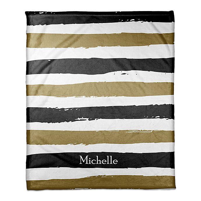 Alternate image 1 for Striped Blanket in Black/Gold