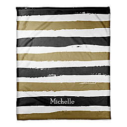 Striped Blanket in Black/Gold