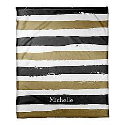 Striped Blanket in Black/Gold