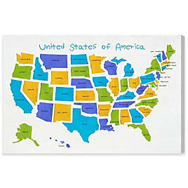 Olivia S Easel Usa Map Canvas Wall Art Bed Bath And Beyond Canada