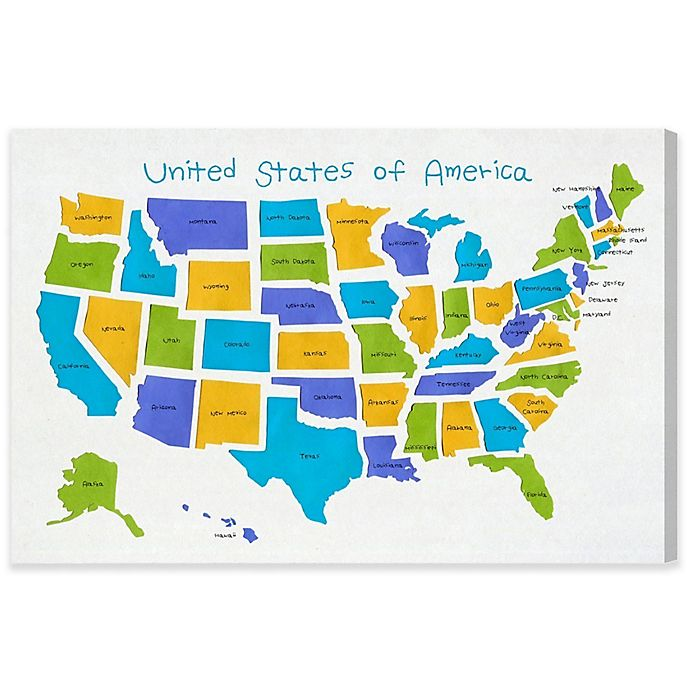 United States Map Canvas Wall Art.Olivia S Easel Usa Map Canvas Wall Art Bed Bath And Beyond Canada