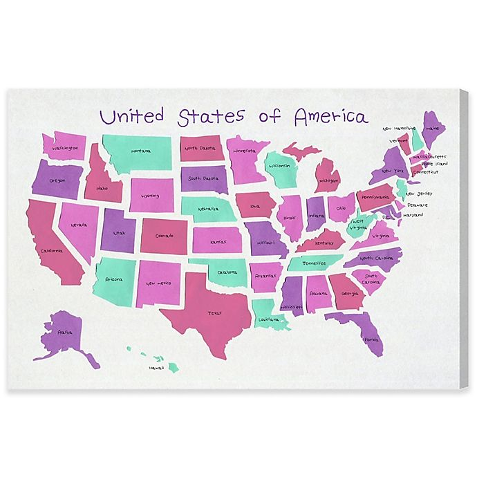 United States Map Canvas Wall Art.Olivia S Easel United States Of America Map Canvas Wall Art Bed