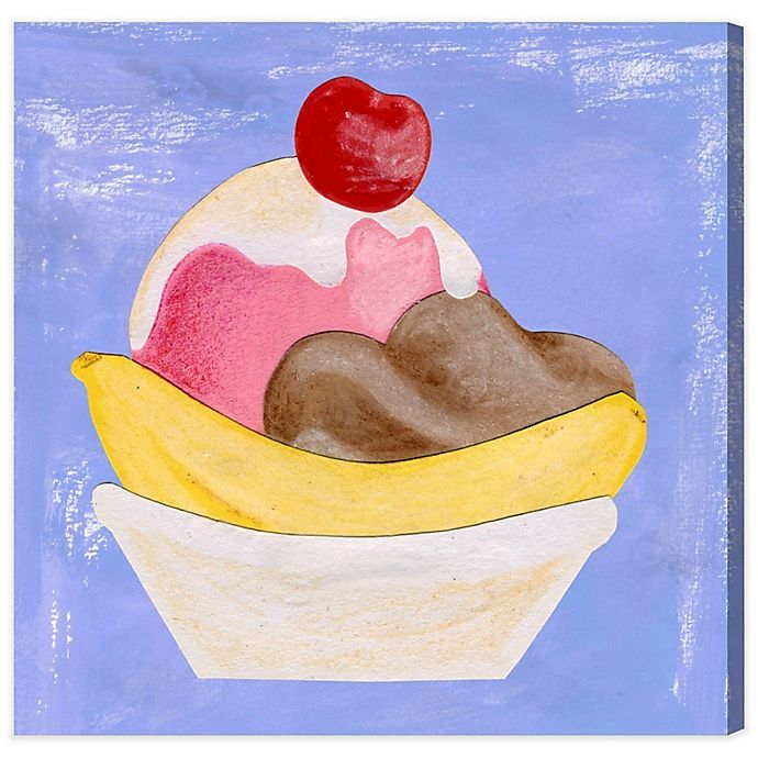 Alternate image 1 for Olivia's Easel Banana Split 36-Inch x 36-Inch Canvas Wall Art