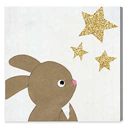 Olivia's Easel 43-Inch x 43-Inch Bunny & Stars Wall Art