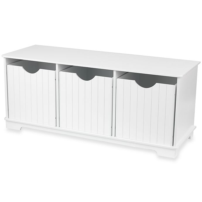 Alternate image 1 for KidKraft® Nantucket Storage Bench in White