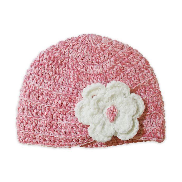 Alternate image 1 for So'Dorable Pink Crochet Hat  with White Flower