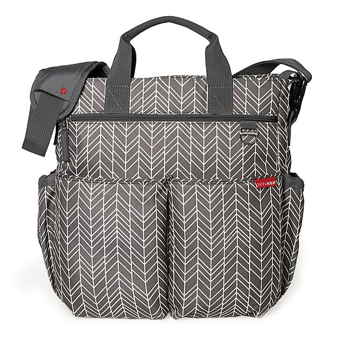 Alternate image 1 for SKIP*HOP® Duo Signature Diaper Bag in Grey Feather