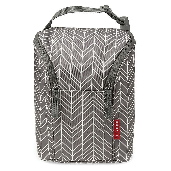 Alternate image 1 for SKIP*HOP® Grab & Go Double Bottle Bag in Grey