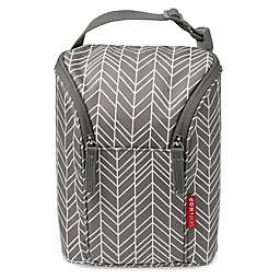 SKIP*HOP® Grab & Go Double Bottle Bag in Grey