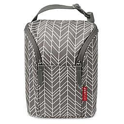 SKIP*HOP® Grab & Go Double Bottle Bag in Grey