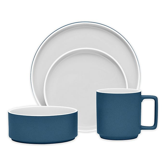 Alternate image 1 for Noritake® ColorTrio Stax Dinnerware Collection in Blue/Grey