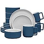 Noritake® ColorTrio Stax 16-Piece Dinnerware Set in Blue/Grey