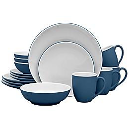 Noritake® ColorTrio Coupe 16-Piece Dinnerware Set in Blue