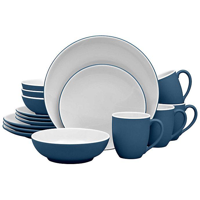 Alternate image 1 for Noritake® ColorTrio Coupe 16-Piece Dinnerware Set in Blue