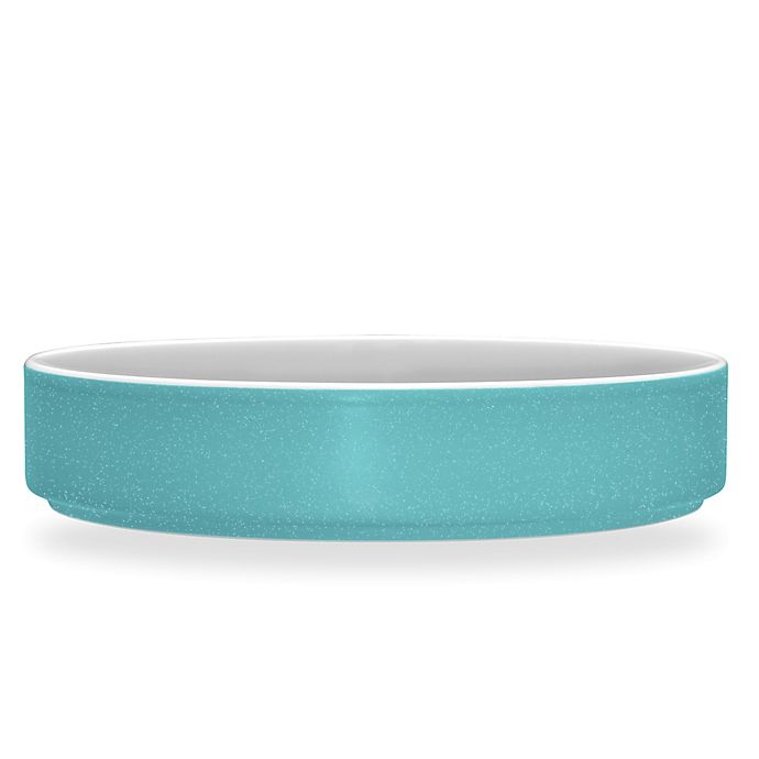 Alternate image 1 for Noritake® ColorTrio Stax Deep Plate in Turquoise
