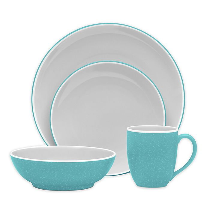 Alternate image 1 for Noritake® ColorTrio Coupe Dinnerware Collection in Turquoise