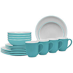 Noritake® ColorTrio Coupe 16-Piece Dinnerware Set in Turquoise