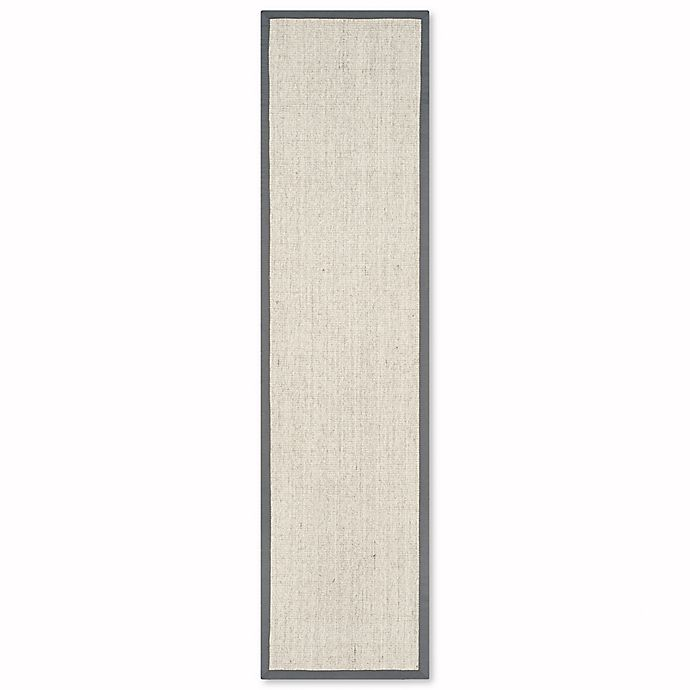 Alternate image 1 for Safavieh Natural Fiber Madeline 2-Foot 6-Inch x 22-Foot Runner in Marble/Grey