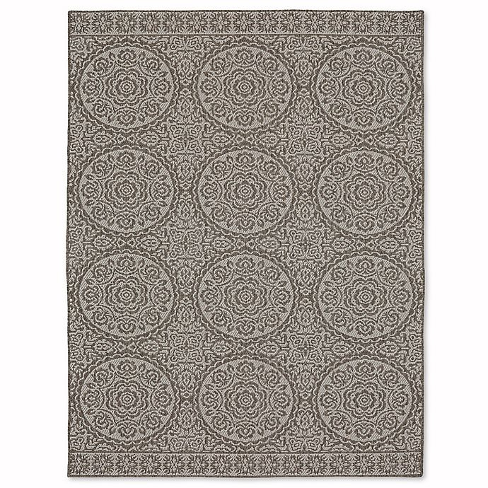Alternate image 1 for Mohawk Home® Oasis Bundoran 8-Foot x 10-Foot Indoor/Outdoor Area Rug in Silver