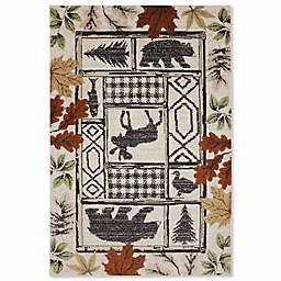 Mohawk Home Madison Autumn Leaves Rug in Linen