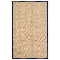Safavieh Natural Fiber Johanna 2-Foot 6-Inch x 4-Foot Accent Rug in In Natural/Blue
