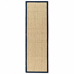 Safavieh Natural Fiber Johanna 2-Foot 6-Inch x 8-Foot Runner in Natural/Blue