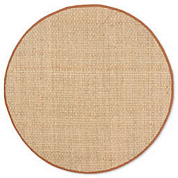 Safavieh Natural Fiber Johanna 6-Foot Round Area Rug in Natural/Brown