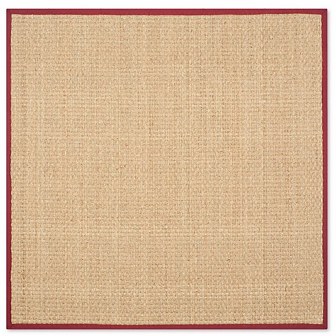 Alternate image 1 for Safavieh Natural Fiber Johanna 6-Foot Square Area Rug in Natural/Red