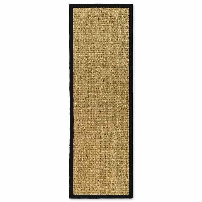 Alternate image 1 for Safavieh Natural Fiber Johanna 2-Foot 6-Inch x 20-Foot Runner in Natural/Black
