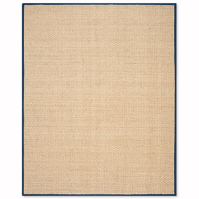 Alternate image 1 for Safavieh Natural Fiber Johanna 6-Foot x 9-Foot Area Rug in Natural/Blue