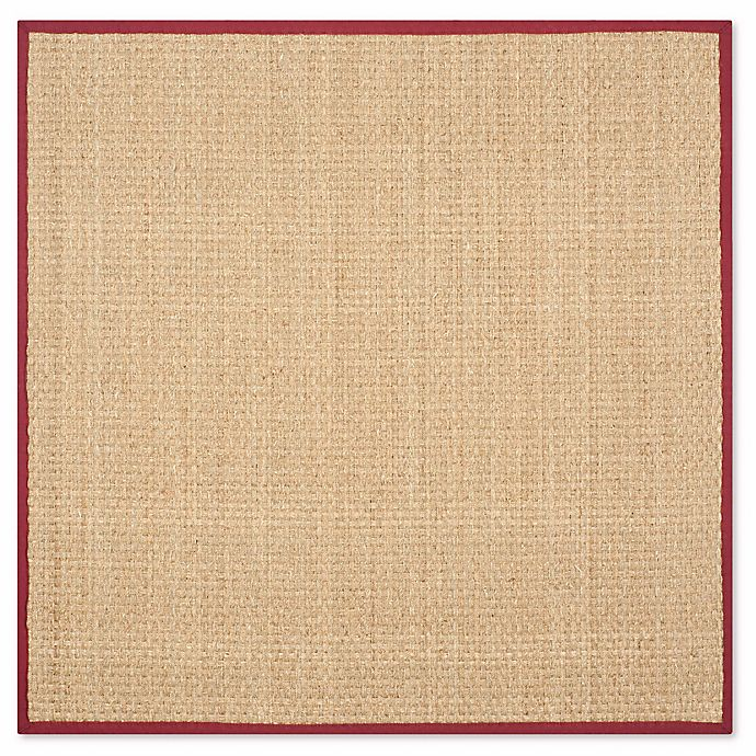 Alternate image 1 for Safavieh Natural Fiber Johanna 8-Foot Round Area Rug in Natural/Red