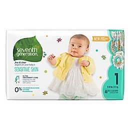 Seventh Generation™ Free and Clear Size 1 40-Count Disposable Diapers