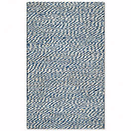 Safavieh Natural Fiber Penelope 2-Foot 6-Inch x 4-Foot Accent Rug in Blue/Ivory