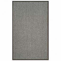 Safavieh Natural Fiber Jacqueline 4-Inch x 6-Inch Accent Rug in Dark Grey