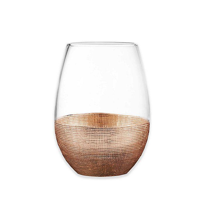 Alternate image 1 for Fitz and Floyd® Linen Copper Stemless Wine Glasses (Set of 4)