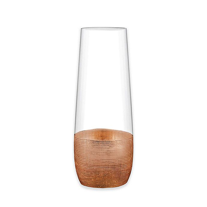 f87519a2a4c Fitz and Floyd® Linen Copper Stemless Champagne Flutes (Set of 4 ...