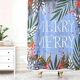 "Deny Designs Joy Laforme Christmas ""Merry Merry"" Wreath Shower Curtain"