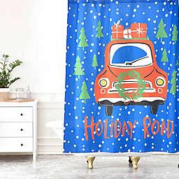 Deny Designs Zoe Wodarz Holiday Road Shower Curtain in Blue