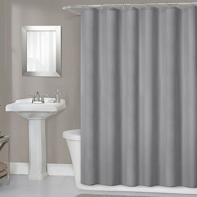 Alternate image 1 for Titan 70-Inch x 72-Inch Waterproof Fabric Shower Curtain Liner in Grey