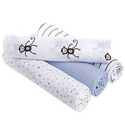 aden® by aden + anais® Monkeys Muslin 4-Pack swaddleplus® Blankets