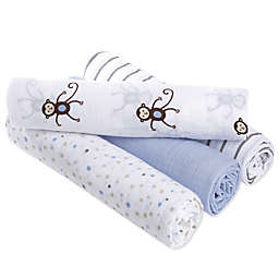 aden® by aden + anais® Monkeys Muslin 4-Pack swaddleplus® Blankets