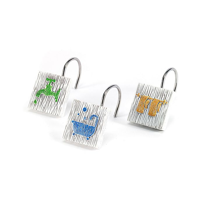 Avanti Bath Words Shower Curtain Hooks Set Of 12