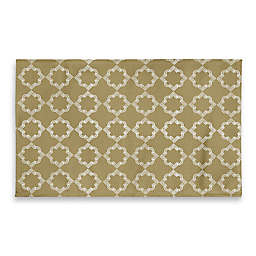 3-Foot x 5-Foot Medallion Bathroom Rug in Yellow/Gold